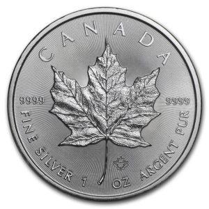 2019 Kanada 1 oz Sølv Maple Leaf BU