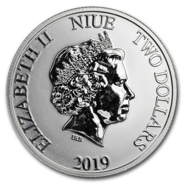 2019 Niue 1 oz Sølv Lunar