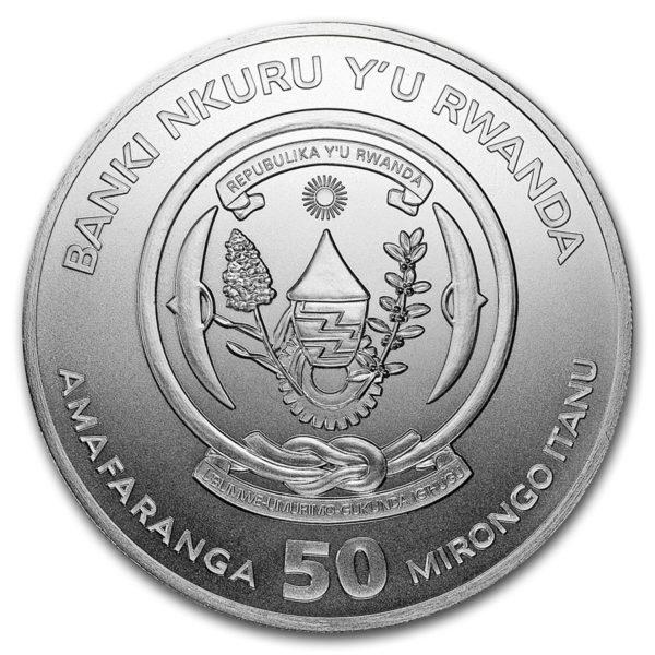 2019 Rwanda 1 oz Sølv African Wildlife