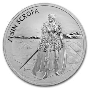 2019 Sør Korea 1 oz Sølv ZI:SIN Scrofa BU