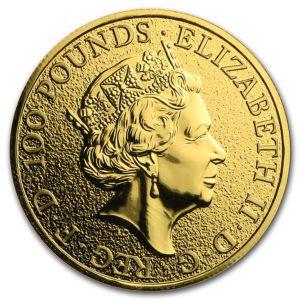 "2016 Storbritannia 1 oz Gull ""Queen`s Beasts - The Lion"" BU"