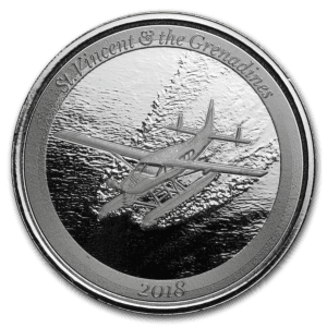 2018 St. Vincent & The Grenadines 1 oz Sølvmynt Seaplane EC8 BU