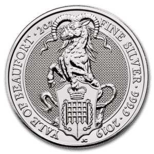 "2019 Storbritannia 2 oz Sølv ""Queen`s Beasts - The Yale"" BU"