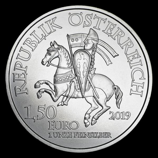 2019 Østerrike 1 oz Sølv 825th Anniversary Wiener Neustadt BU