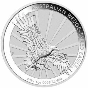 2019 Australia 1 oz Sølv Wedge-Tailed Eagle BU