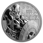 2019 Tuvalu 1 oz Sølv Marvel Series