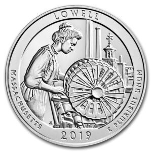 "2019 ATB 5 oz Sølv ""Lowell National Historical Park"" BU M/Kapsel"