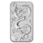2019 Australia 1 oz Sølv Dragon Coin Bar BU