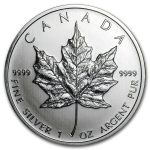 2011 Kanada 1 oz Sølv Maple Leaf BU