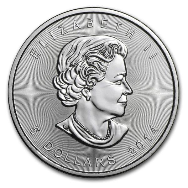 2014 Kanada 1 oz Sølv Maple Leaf BU