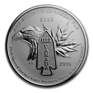 2016 Kanada 1/2 oz Sølvmynt Devil`s Brigade BU