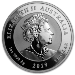 "2019 Australia 1 oz Sølv ""Anniversary of the Moon Landing"" BU"