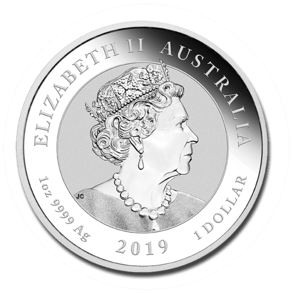 2019 Australia 1 oz Sølv «Double Dragon» BU