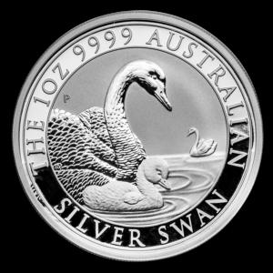 """2019 Australia 1 oz Sølv """"Swan"""" BU"""