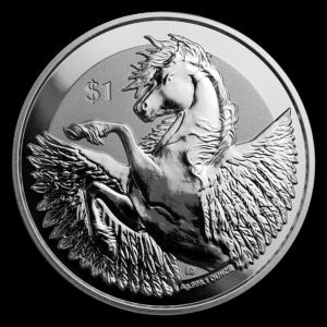 2019 De Britiske Jomfruøyer 1 oz Sølv Pegasus Reverse Frosted BU