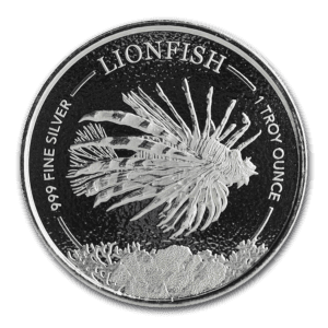 "2019 Barbados 1 oz Sølvmynt ""Lionfish"" BU"