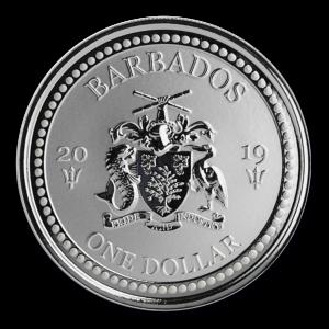 "2019 Barbados 1 oz Sølvmynt ""Lionfish"" BU"