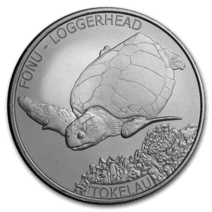 "2019 Tokelau 1 oz Sølv ""Loggerhead Turtle"" BU"