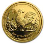 2017 Australia 1/4 oz Gull Lunar S2 «Year of the Rooster» Proof