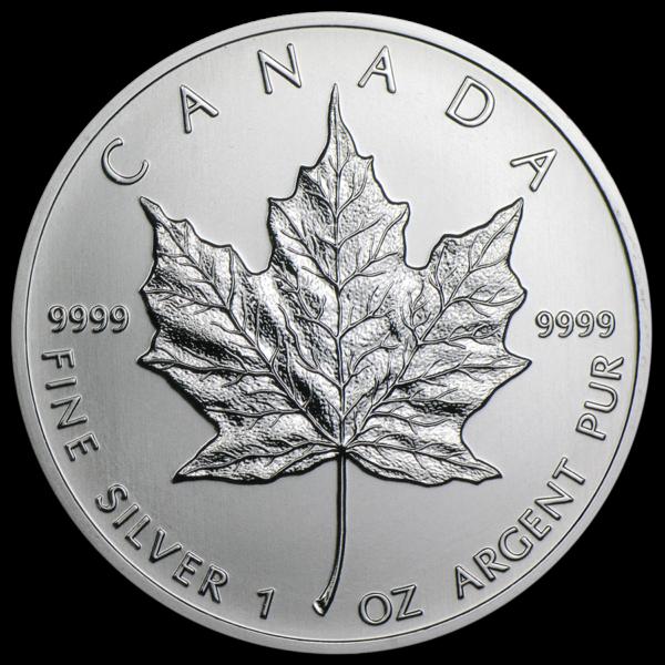 2013 Kanada 1 oz Sølv Maple Leaf BU i Tube