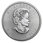 2014 kanada maple leaf 1 oz sølv
