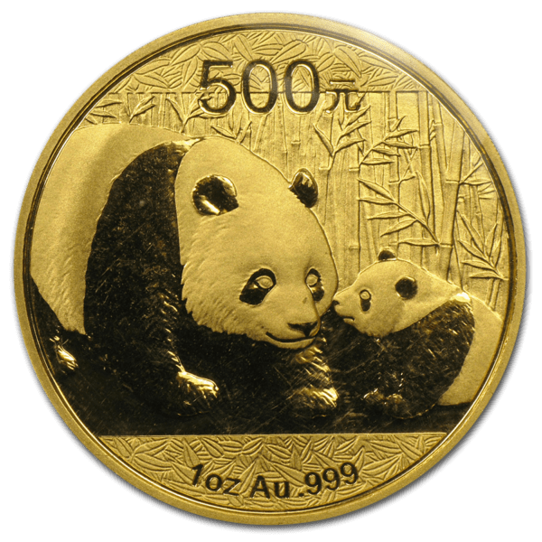 2011 China 1 oz Gold Panda BU