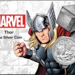 2018 Tuvalu 1 oz Sølv Marvel Series THOR™ BU (In Card)