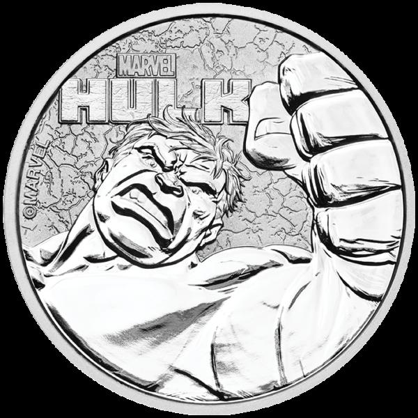 2019 Tuvalu 1 oz Sølv Marvel Series «Hulk» BU