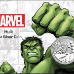 2019 Tuvalu 1 oz Sølv Marvel Series «Hulk» BU (In Card)
