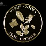 2003 Hundreårsmynten 1500 Kroner 1/2 oz Gull Nr. 1 Proof M/Etui