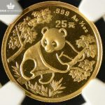 1992 Kina 1/4oz Gull Panda Small Date BU NGC MS69