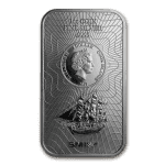 2017 Cook Islands 1 oz Sølv «Bounty» Coin Bar BU «Sealed»