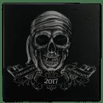 2017 Palau 1 oz Sølv «Pirate Skull» Antikk Finish