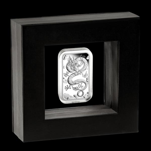 2019 Australia 1 oz Sølv Dragon Coin Bar Proof