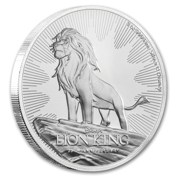 2019 Niue 1 oz Sølv Disney Lion King BU