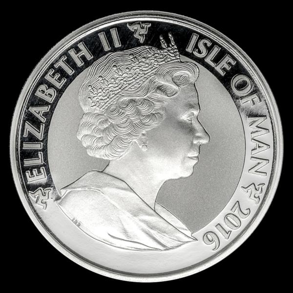 2016 Isle of Man 1 oz Silver Angel Reverse Proof adv