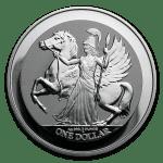 2017 De Britiske Jomfruøyer 1 oz Sølv Pegasus Revers Proof M/Kapsel