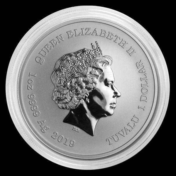 2019 Tuvalu 1 oz Sølv «Black Flag – Queen Anne`s Revenge» BU