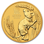 2020 Australia 1 oz Gull Lunar S3 «Year of the Mouse» BU M/Kapsel