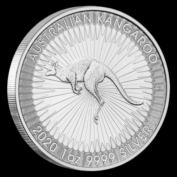 2020 Australia 1 oz Silver Kangaroo BU profil