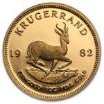 982 Sør-Afrika 1 oz Gull Krugerrand Proof M/Orginalt Etui «Anmerkning»