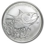 2014 Tokelau 1 oz Sølv «Kakahi-Yellowfin Tuna» BU M/Kapsel Anmerkning