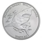 2015 Tokelau 1 oz Sølv «Mokoha Great White Shark» BU M/Kapsel