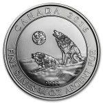 2016 Kanada 3/4 oz Sølv Howling Wolves BU M/Kapsel