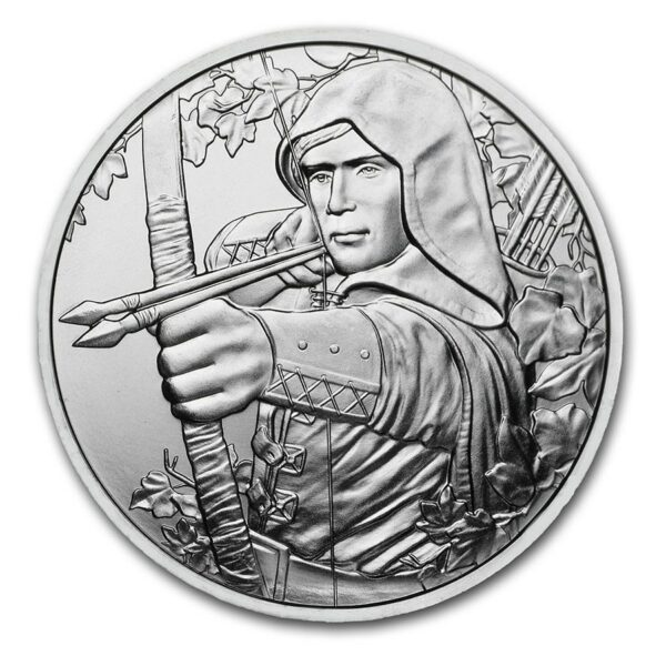2019 Østerrike 1 oz Sølv 825th Anniversary Robin Hood BU