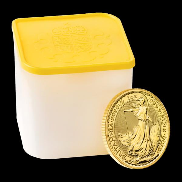 2020 Great Britain 1 oz Gold Britannia BU TUBE