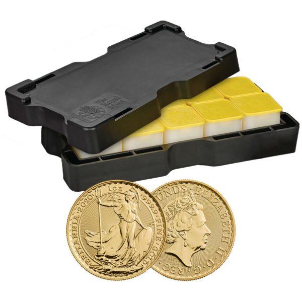2020 Storbritannia 100 x 1 oz Gull Britannia BU i Monsterbox «Bestillingsvare»