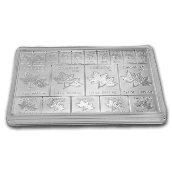 2 oz Silver Bar – Royal Canadian Mint Maple Flex Bar (.9999 Fine) adv kapsel