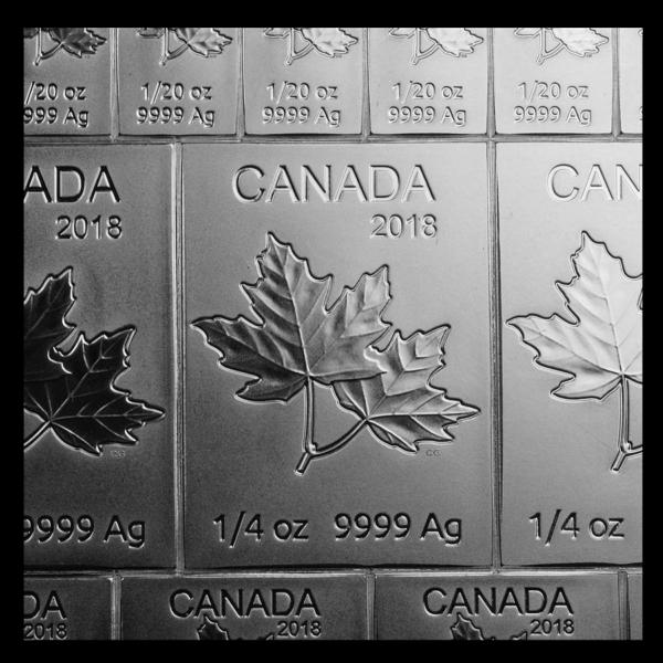2019 Kanada 2 oz Sølv Maple Flex Coinbar M/Kapsel