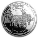 2015 Australia 5 oz Sølv Lunar S2 «Year of the Goat» Proof NGC PF70 UC